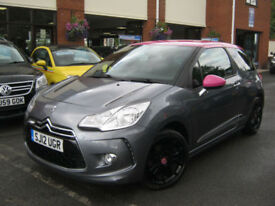 2012 Citroen DS3 1.6 VTi ( 120bhp ) DStyle,MET GREY & PINK ROOF + INT!!!!!