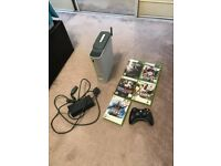 Xbox 360 60gb With 5 Games, Wireless Controller, Wireless Adapter