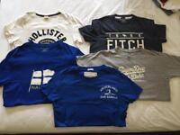 5 logo T-shirts all size small