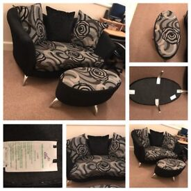 DFS Stunning 2seater sofa with Puffer