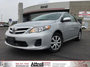 2013 Toyota Corolla CE. Keyless Entry, A/C, Bluetooth