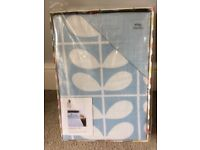 Beautiful Orla Kiely blue stem pattern king-size duvet cover