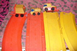 Mattel wooden early 70s toys