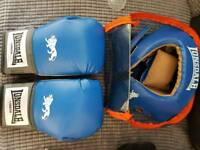 Londsdale 12oz gloves and sparring headguard