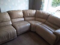 Corner Sofa / Settee with 2 recliners