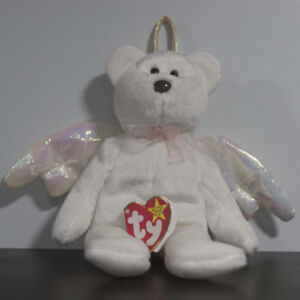 "TY ""Halo"" Angel Bear Beanie Baby Rare Tag Brown Nose - ERROR"