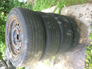 Tires with steel rims