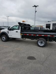 2017 Ford F-550 4x4 CAB & CHASSIS WITH 11'  DEL DUMP BODY