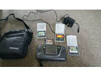 Sega game gear with 4 games