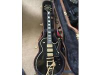 Gibson Les Paul ES Custom 3 Gold Pickups With Bigsby. VOS From Gibson Custom, COA Included Case