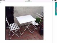 Top Quality White Emu Arc en Ciel Table and 2 Chair Set