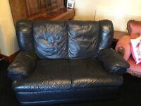 Navy 2 Seater Sofa