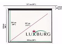 Luxburg® 113 Inch 203x203cm 1:1 Manual Pull Down Projection Screen