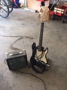 Fender squire beginner guitar and amp