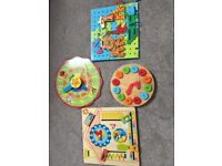 Wooden learning toys and puzzle
