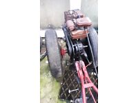 garden tractor villiers and ploughs fully working ready to go or export