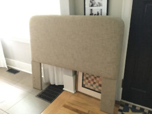 Uphoulstered headboard for double bed
