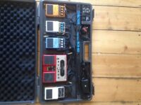 Pedal board and pedals (individual or whole lot)