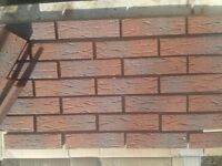 Brick slips/tiles. Red Sanded. Colour 335-RF