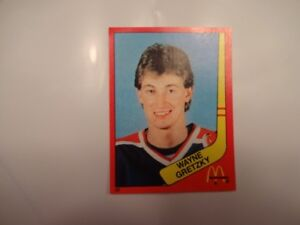 hockey wayne gretzky mc donald's 1982-83