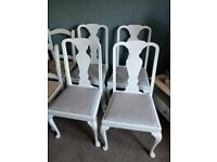 X4 antique queen anne dining chairs