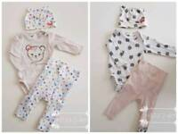 Baby girl 0-3m clothes and accessories