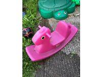 Little Tikes Outdoor Rocking Horse Pink