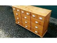 Solid wood chest . Collection