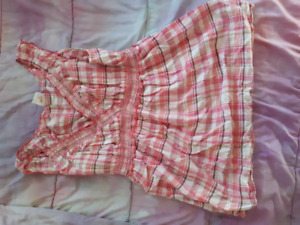 Pink plaid maternity top