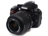 Nikon D3100 Digital DSLR with two lenses