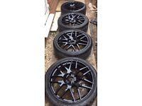 "20"" Calibre Exile Gloss Black w/ 3-4mm Tyres: 5x120"