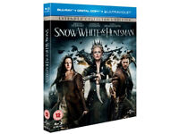 Snow White and the Huntsman- Extended Collector's Edition [Blu-ray+Digital] VGC