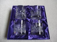Set of four Edinburgh crystal whisky glasses