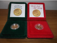 1980 Gold Proof Full and Half Sovereign