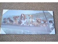 dog themed moving wooden picture