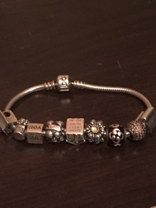 Pandora Braclet with 9 charms!!!