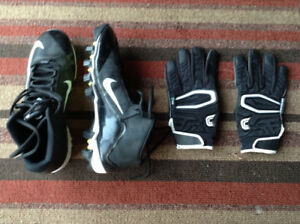 Men's Football Cleats and gloves