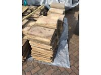 Patio paving slabs-assorted sizes