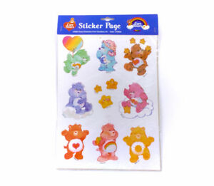 Sealed Vintage Care Bears Sticker Sheet Large Assorted Kawaii
