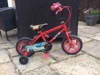 Disney lightning McQueen toddler bicycle