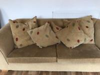 Two seater and three seater matching fabric sofas, excellent condition, from John Lewis (used)
