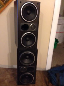 Set of sleek Sony speakers - Super clear sound!