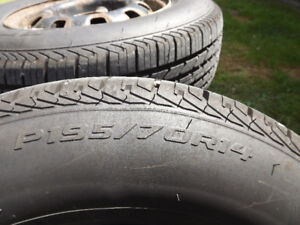 4 Tires for Sale 195 70 R14 with Rims