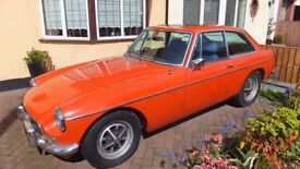 MG B GT 1972 No Road Tax required