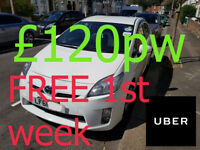 PCO Toyota Prius Uber Ready cars to Rent 1st week Rent Free then £85 per week