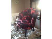Red and black chair
