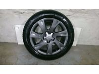ALLOYS X 4 OF 17 INCH GENUINE AUDI A5 FULLY POWDERCOATED IN A STUNNING ANTHRACITE VERY NICE WHEELS