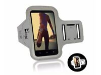 Reflective iPhone 7 Armband Fingerprint ID Access for Running, Gym, Exercise (Small - Large Arms)