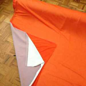 Orange mesh fabric (lined)