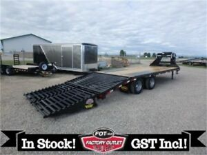 24K GVWR - 8.5 X 25 GOOSENECK BY BIG TEX TRAILERS - SPARE INCL.